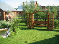 Расположение садовых архитектурных